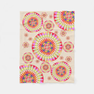 Colorful Geo' Fleece Blanket
