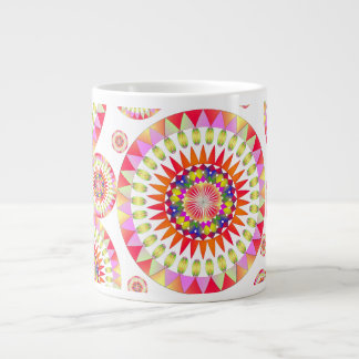 Colorful Geo' Large Coffee Mug