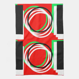 Colorful Geometric 4Lucas Tea Towel