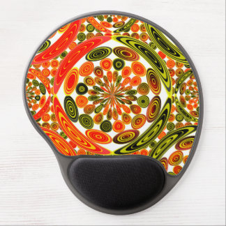 Colorful geometric abstract gel mouse pad