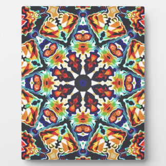 Colorful Geometric Abstract Plaque