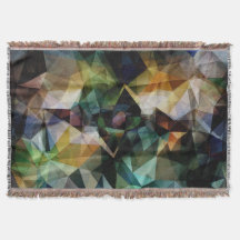 Colorful Geometric Abstract Throw Blanket
