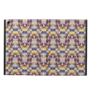 Colorful geometric brown square  Plaid iPad Air Cover