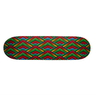 Colorful Geometric Design Skateboard