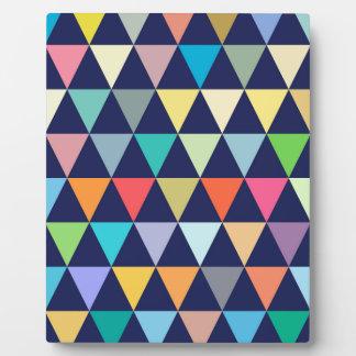 Colorful geometric display plaques