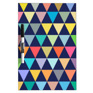 Colorful geometric dry erase board