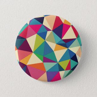 Colorful Geometric Kaleidoscope 6 Cm Round Badge