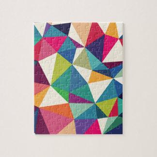 Colorful Geometric Kaleidoscope Jigsaw Puzzle