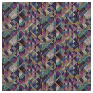 Colorful Geometric Pattern Abstract Fabric