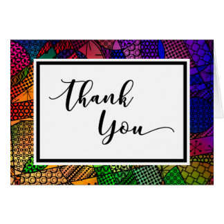 Colorful Geometric Pattern Event Thank You Card