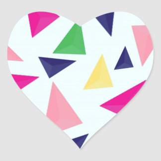 Colorful geometric pattern II Heart Sticker