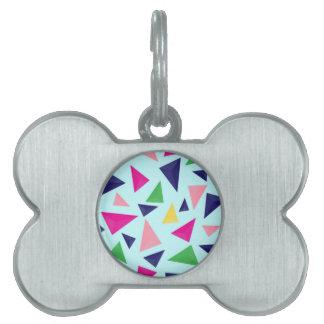 Colorful geometric pattern II Pet Tag