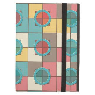 Colorful geometric pattern iPad air covers