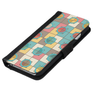 Colorful geometric pattern iPhone 6 wallet case
