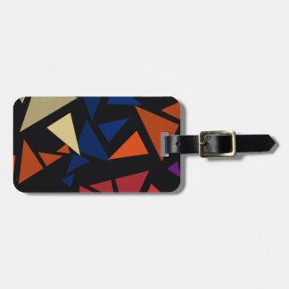 Colorful geometric pattern luggage tag