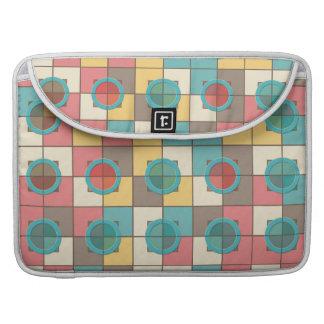 Colorful geometric pattern MacBook pro sleeve