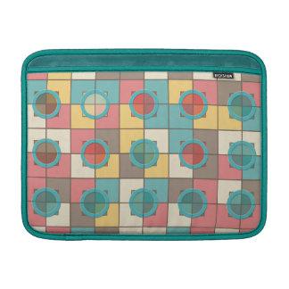 Colorful geometric pattern MacBook sleeves
