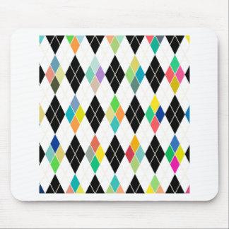 Colorful geometric pattern mouse pad