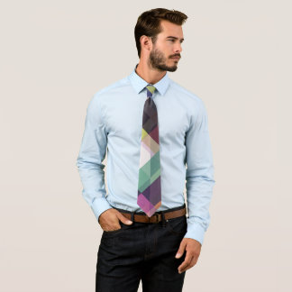 Colorful Geometric Pattern Tie