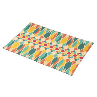 Colorful geometric pattern with abstract polygons placemat