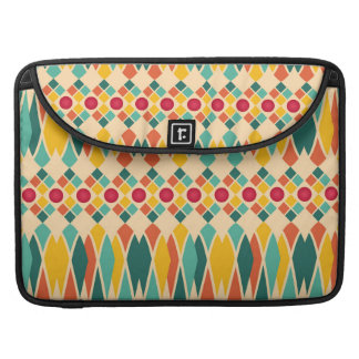 Colorful geometric pattern with abstract polygons sleeve for MacBook pro