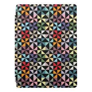 Colorful Geometric Pinwheel Black iPad Pro Cover