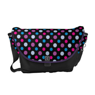 Colorful Geometric Polkadots Patterned Courier Bags