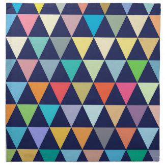Colorful geometric printed napkin