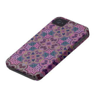 Colorful Geometric ~ Purple iPhone 4 Cases
