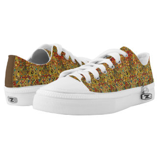 Colorful Geometric Quilt Pattern (Egyptian, Aztec) Low Tops