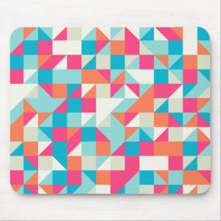 Colorful Geometric Triangle Pattern Mouse Pad