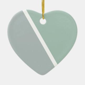 Colorful Geometric Triangles Ceramic Heart Decoration