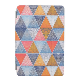 Colorful geometric triangles mandalas pattern iPad mini cover