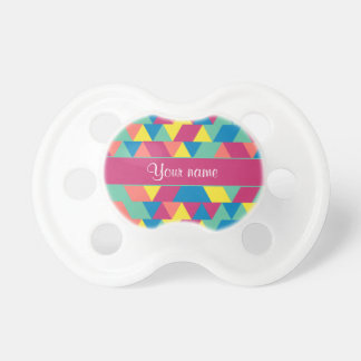 Colorful Geometric Triangles Pacifiers
