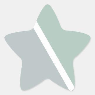 Colorful Geometric Triangles Star Sticker