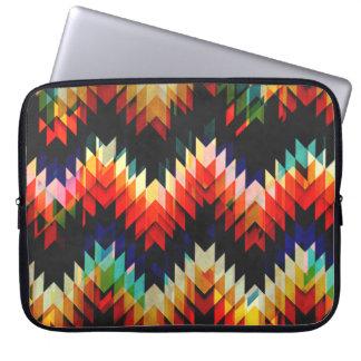 Colorful Geometric Weave Laptop Sleeve