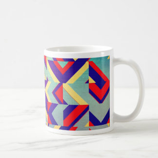 Colorful geometrical coffee mug