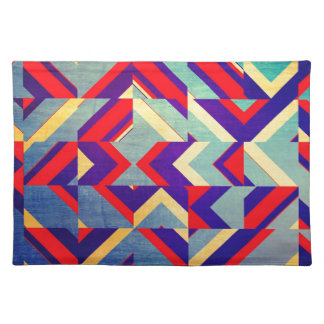 Colorful geometrical placemat