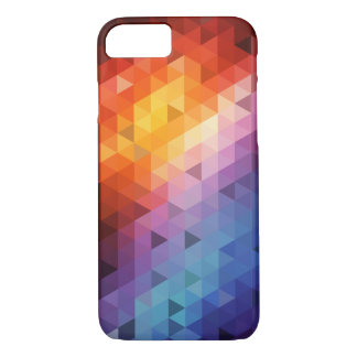 Colorful Geometry Pattern (Triangle Pattern) iPhone 7 Case