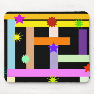 Colorful Geomtric Shapes Pattern Mousepad