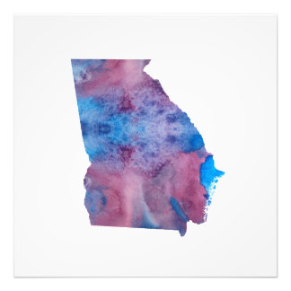 Colorful georgia silhouette photo print