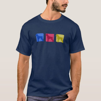 Colorful Giant Schnauzer Silhouettes T-Shirt