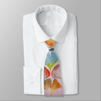 Colorful Ginkgo leaves Tie