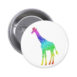Colorful Giraffe Button