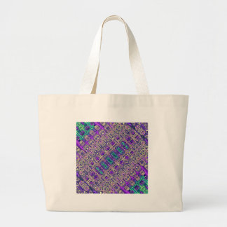 Colorful Glass Beads Abstract Large Tote Bag