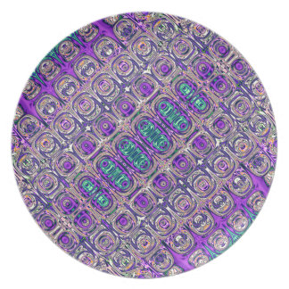 Colorful Glass Beads Abstract Plate
