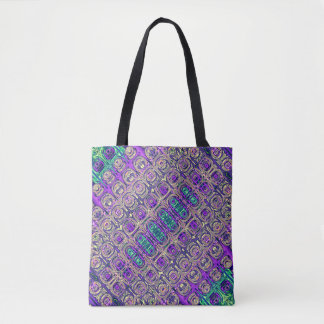 Colorful Glass Beads Abstract Tote Bag