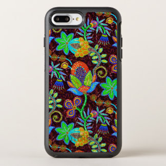 Colorful Glass Beads Look Exotic Flowers Pattern OtterBox Symmetry iPhone 8 Plus/7 Plus Case