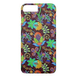 Colorful Glass Beads Look Retro Floral Design 2 iPhone 8 Plus/7 Plus Case