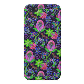 Colorful Glass Beads Retro Floral Design 2 Cover For iPhone 5/5S